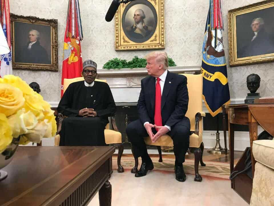Trump Applauds Buhari On A Job Well Done In Security Sector