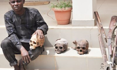 A tailor was caught with three skulls in Ilorin.