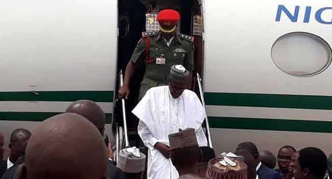 BREAKING: President Buhari Arrives Bauchi