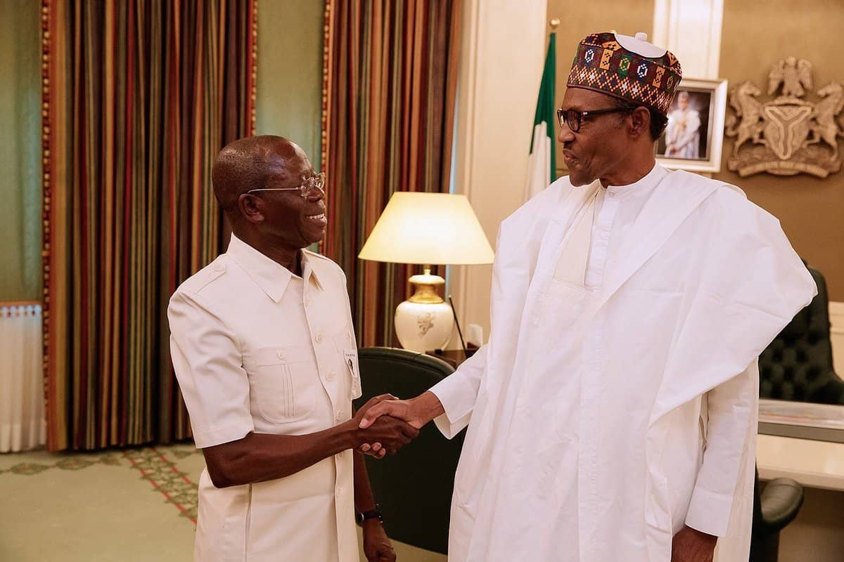 What Buhari Said About Oshiomhole As He Turns 67