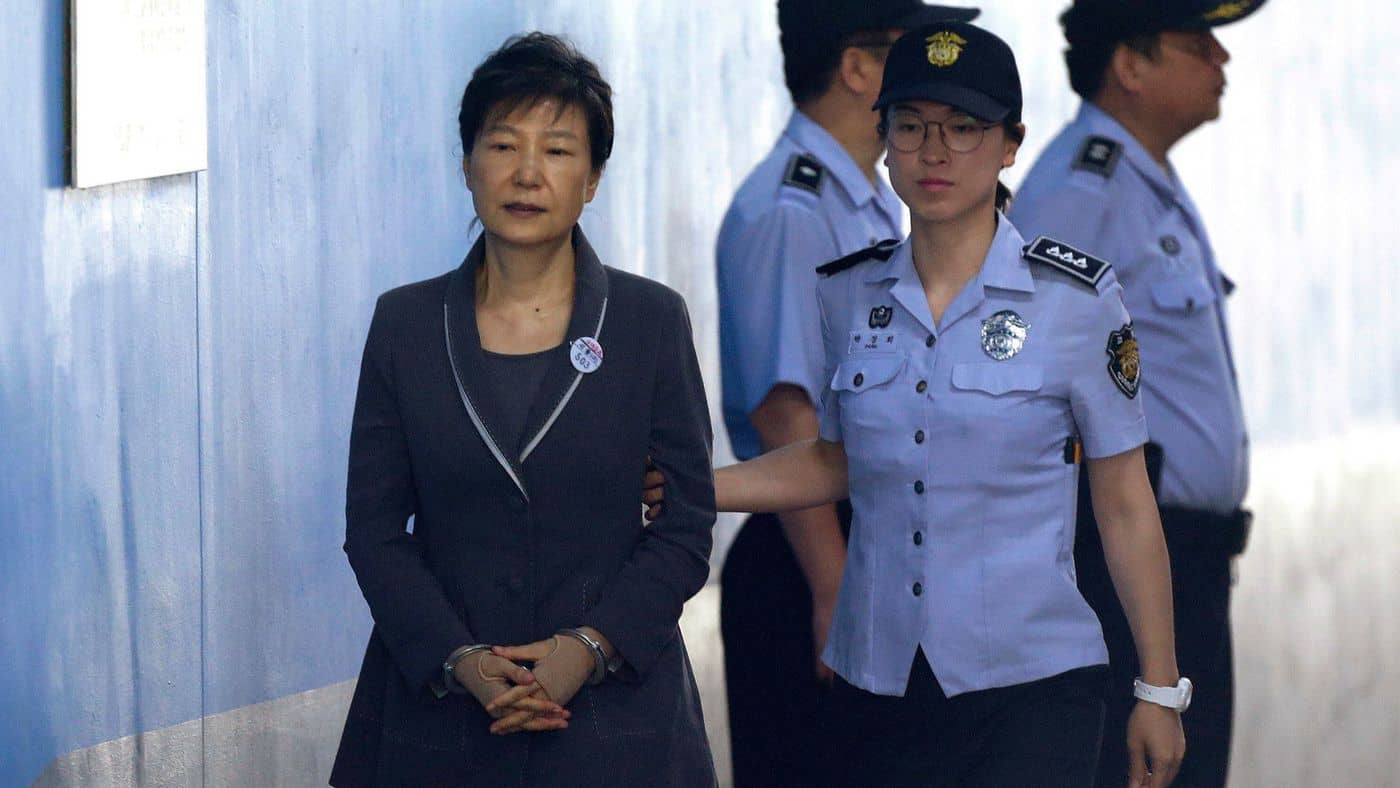 Former president of South Korea jailed for corruption
