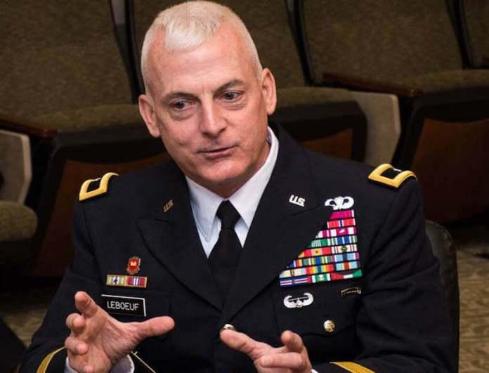 US Military Brigadier General Eugene LeBoeuf