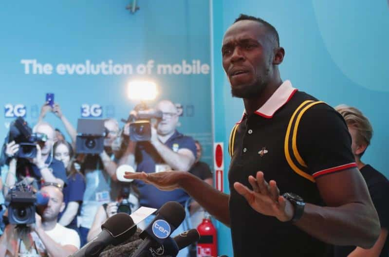 Jamaica Legend, Usain Bolt Takes A Break From Football