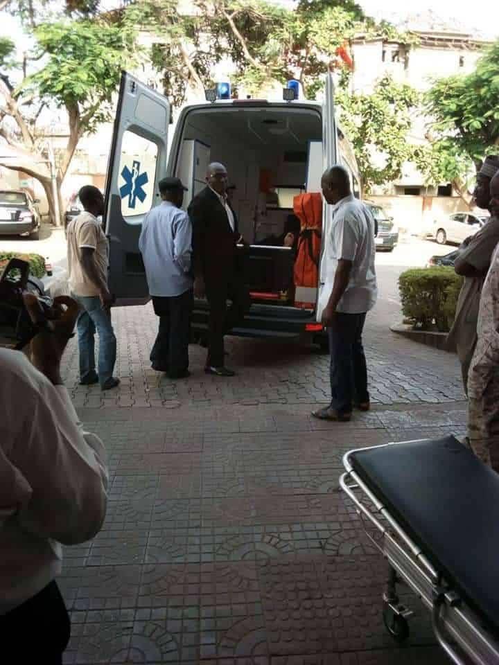 Dino Melaye arrives hospital