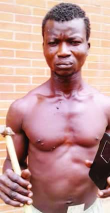 Robber who poses as drink seller nab by police.
