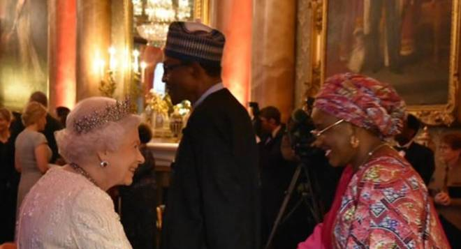 Photos: President Buhari, Aisha Buhari, Others Hosted By Queen Elizabeth In Buckingham Palace