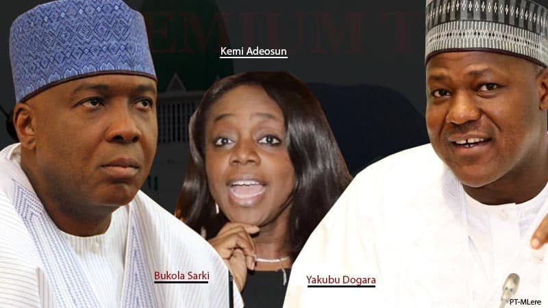 Minister Adeosun, Saraki, Dogara, Accountant General in N10 billion fraud scandal