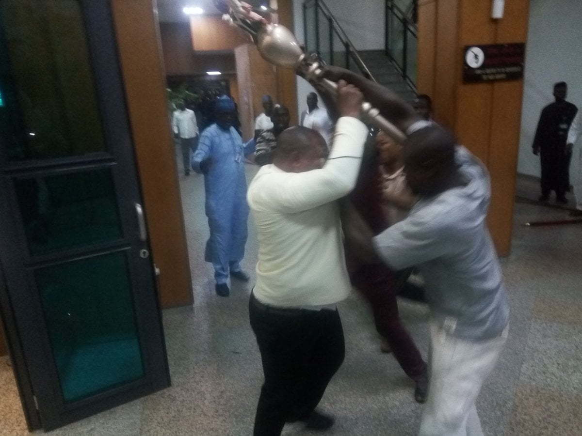 Stolen Senate Mace Recovered By Police