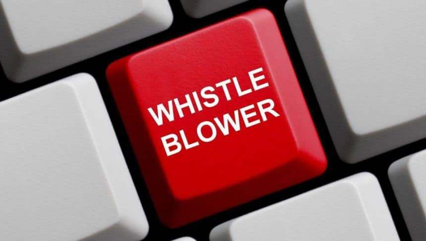 8,000 whistle blowers recorded in one year
