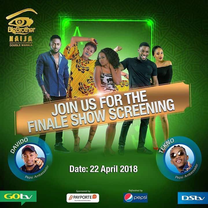 Davido and Tekno to perform at BB Naija's final