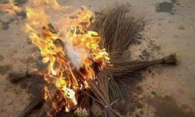 APC Lawmaker Burns Broom As He Decamps To PDP