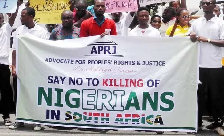 Nigerians detained in South Africa for protesting killings — Union