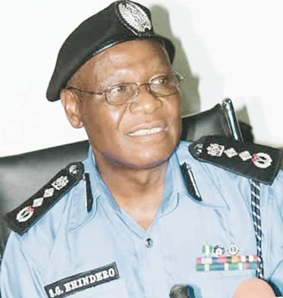 Ex-Inspector-General of Police (I-G), Mr Sunday Ehindero