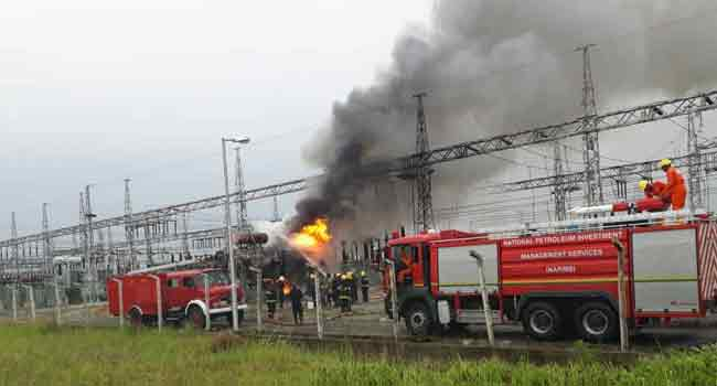 Alagbon Lagos Electricity Substation Razed By Fire