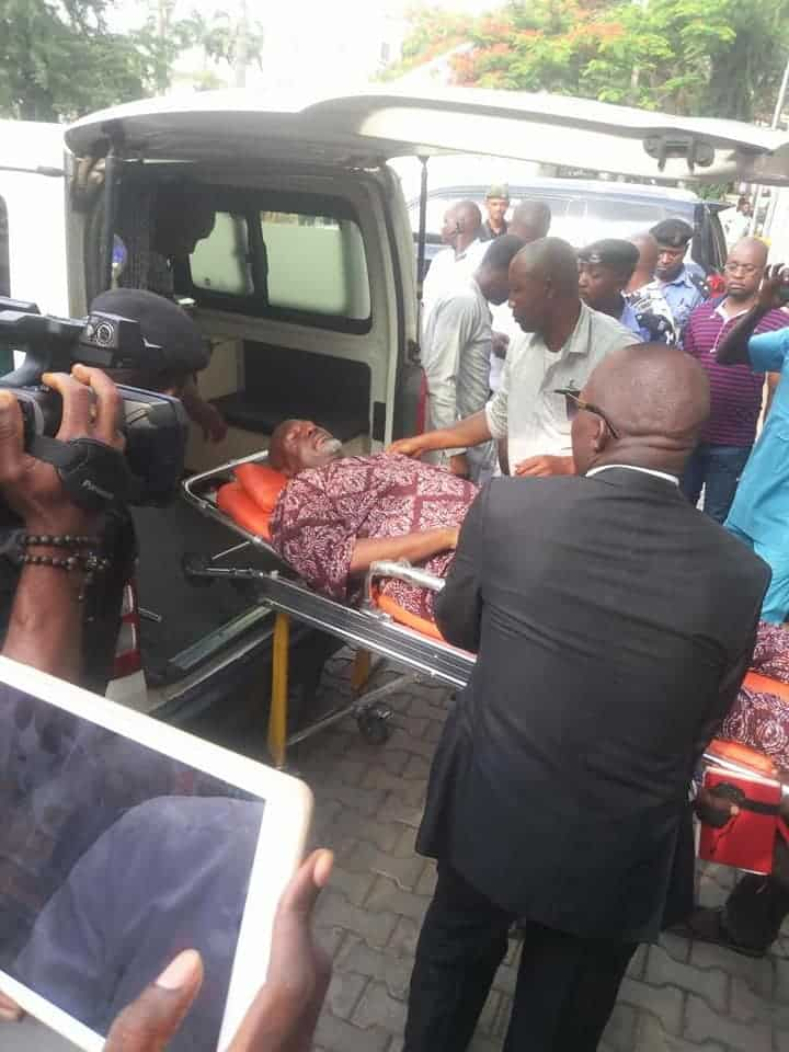 Dino Melaye Arrives Kogi In Ambulance, To Be Arraigned Again