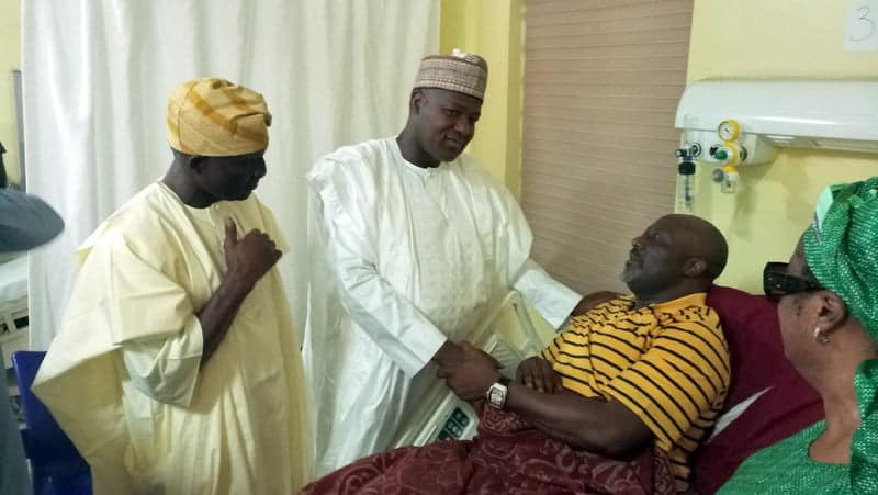 Dogara, House Leaders Visit Melaye