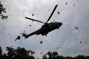 Helicopter crash 300x200 - 5 Persons Killed As Boko Haram Shoots Down Helicopter In Borno State