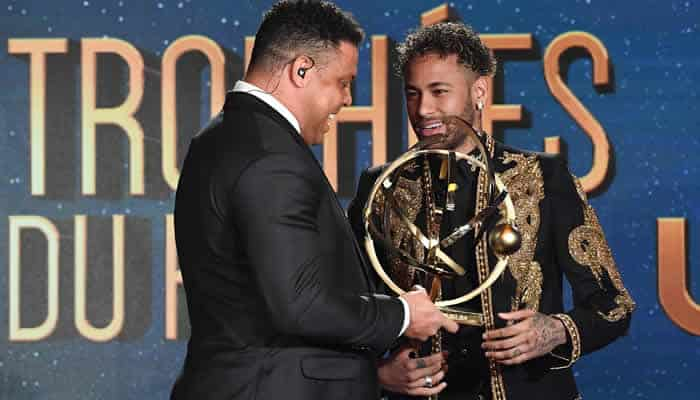 Neymar wins France player of the year award. (Photo credit: AFP)
