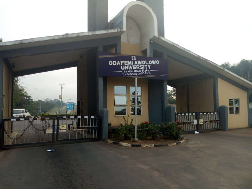 Main Entance, OAU. Photo: Naija News