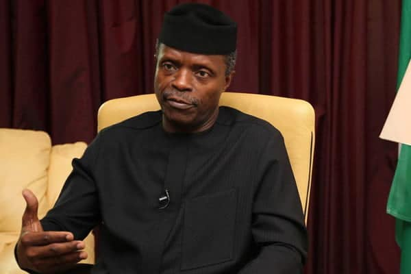 Osinbajo arrives Enugu