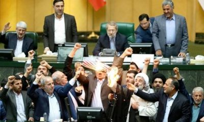 Iran Parliament Burn US Flag Over Withdrawal From Nuclear Deal