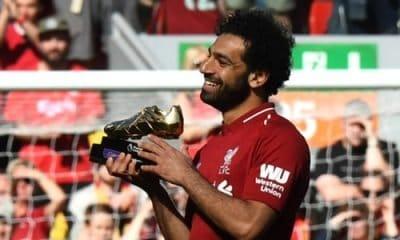 Salah wins premier league golden boot