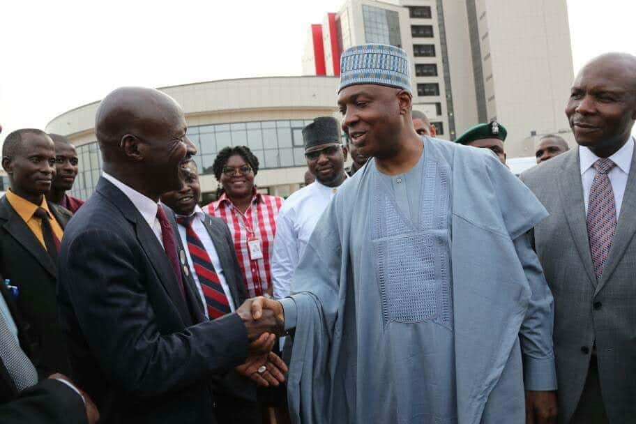 Saraki Visits New EFCC Headquarters, Calls For Joint Fight Against Corruption