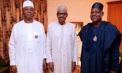 Buhari meets Saraki, Dogara at Aso Rock