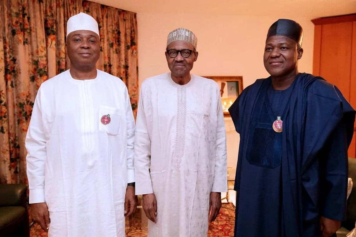 Buhari meets Saraki, Dogara at Aso Rock