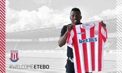 Etebo signs for stoke city