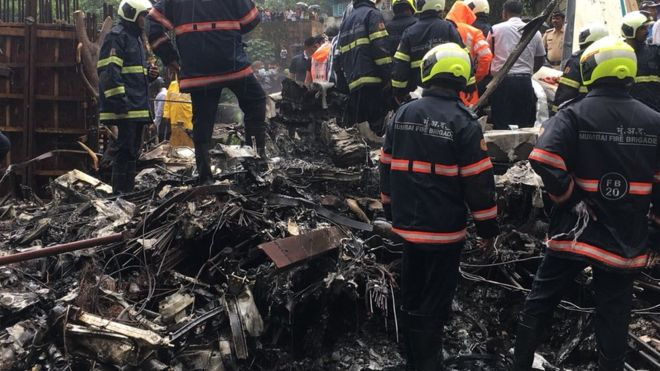 Plane Crash In India 1 - Eight Feared Dead As Plane Carrying Presidential Staff Crashes