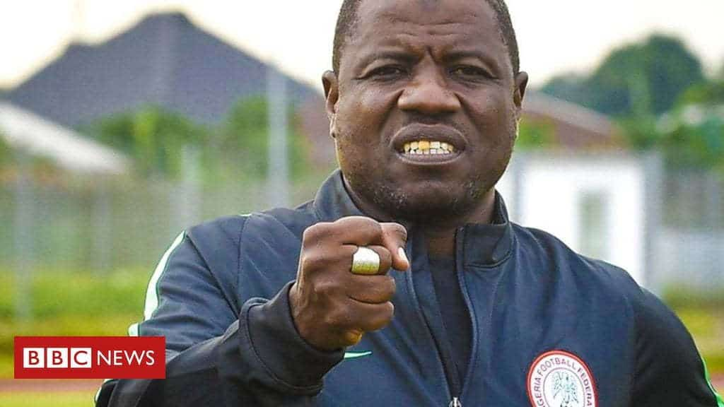 Super Eagles Chief Coach Caught On Video Tape Collecting $1000 To Field Players