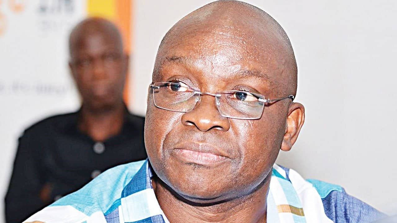 Fayose Attacks Fayemi, Says Governor Has Failed In His First 100 Days
