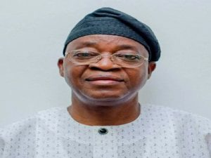 Oyetola 300x225 - Osun Governor, Gboyega Oyetola Attacked By Thugs At #EndSARS Protest (Photos And Video)