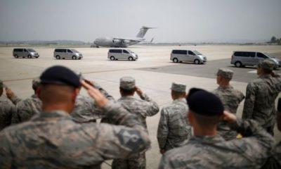 Trump Thanks N.Korea As Remains Of 55 U.S Soldiers Returns Home