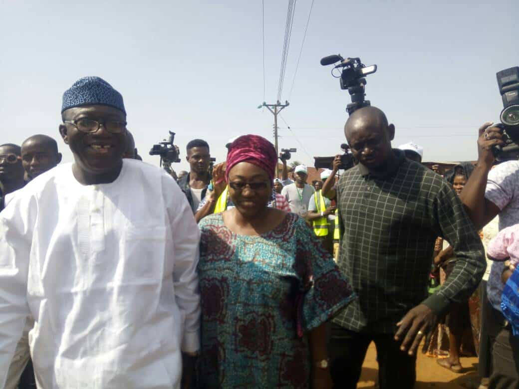 #Ekiti Decides : Card Reader Rejects Fayemi Wife's PVC