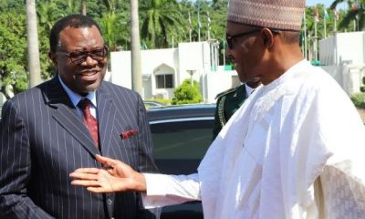 Buhari Holds Bilateral Talks With Namibian President