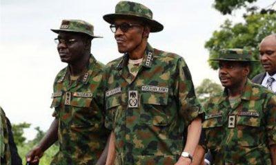 Buhari in army uniform