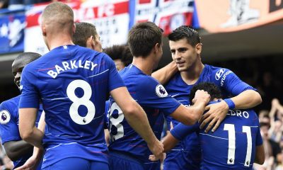 Chelsea players' celebrations EPA WILL OLIVER