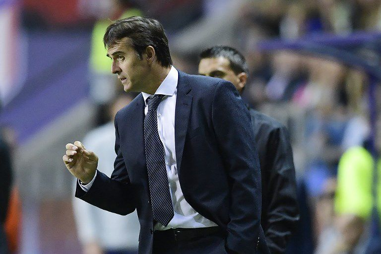Julen Lopetegui in the first game as coach of Real Madrid AFP PHOTO JAVIER SORIANO