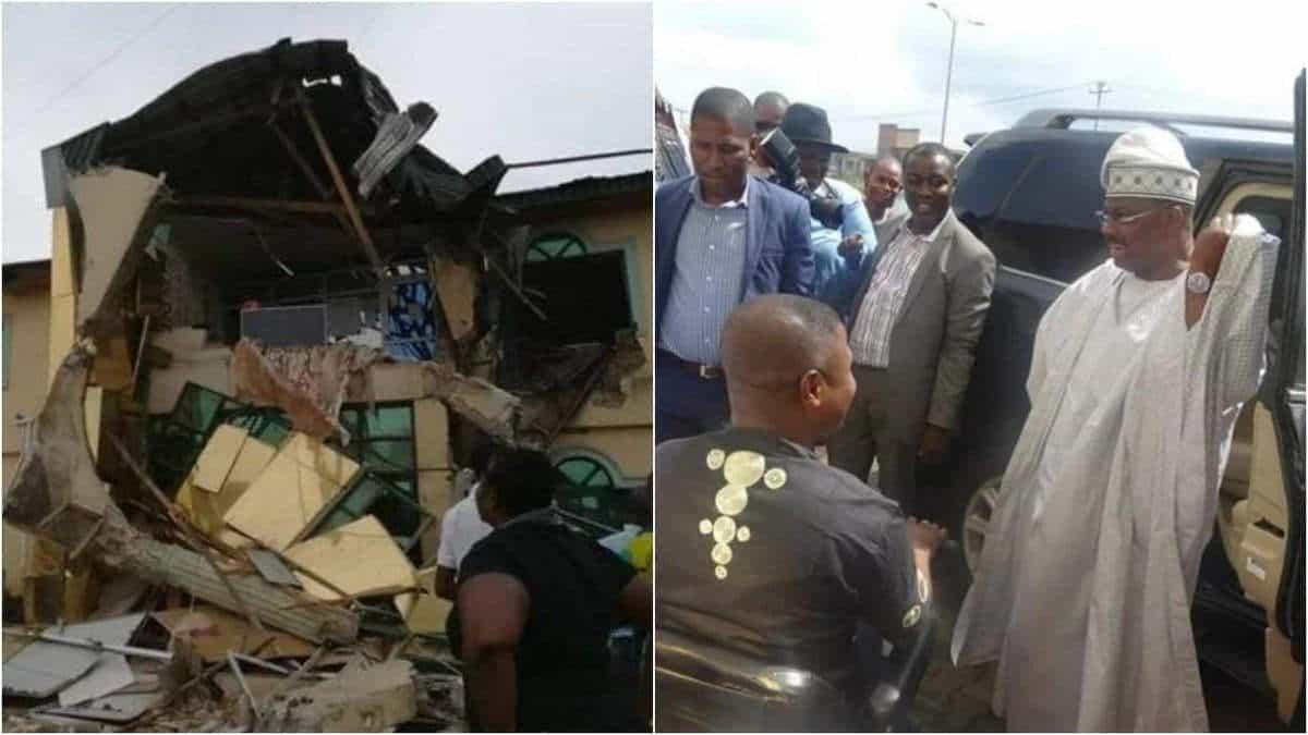 Image result for yinka ayefele demolished building