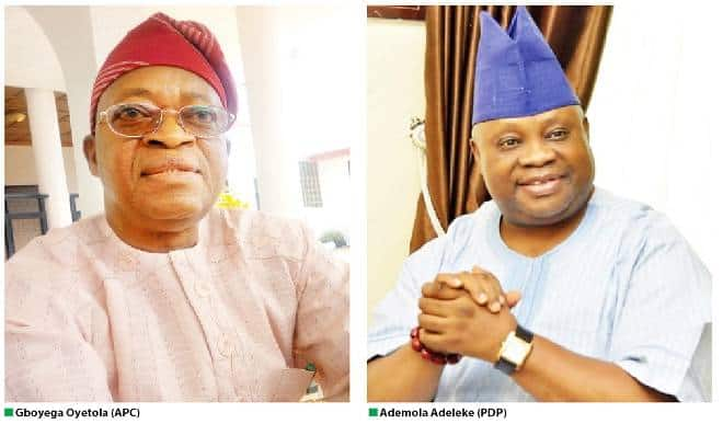 Adeleke Oyetola to battle in re run election - Osun Gov'ship Election: APC Slams PDP Over Fake News