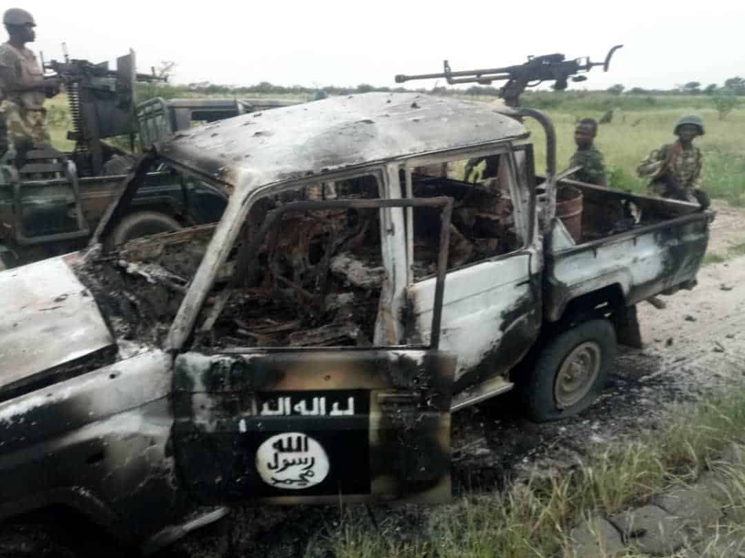Burnt Boko Haram Vehicle