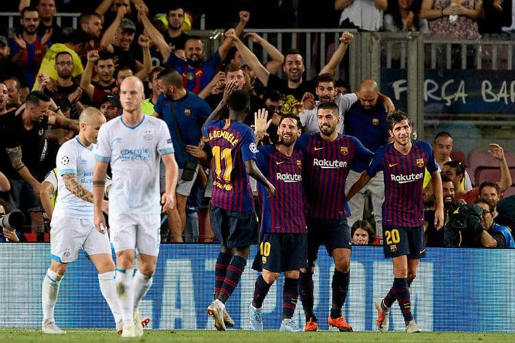 Champions League: Messi hat-trick fires Barcelona to victory over PSV