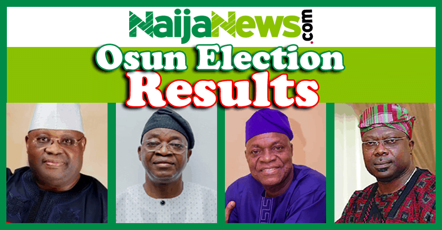 Osun State 2018 Governorship Election Result [Live Updates