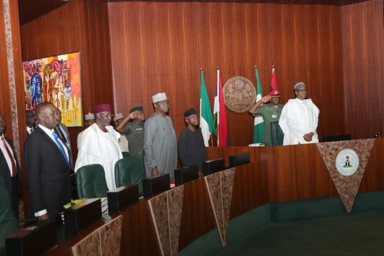 Kyari, Monguno In Attendance As Buhari Presides Over FEC