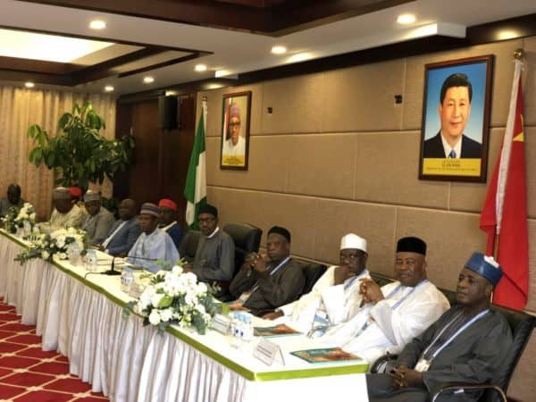President-Buhari-fifth-right-at-the-interaction-with-Nigerians-in-China-e1535904869559