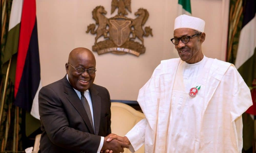 President Buhari with his Ghanaian counterpart Nana Akufo Addo 1000x600 - Buhari Reacts To Coup Attempt In Ghana