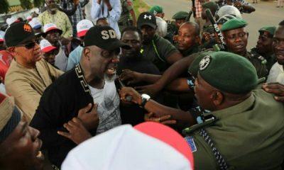 Teargas PDP Leaders Dino Melaye