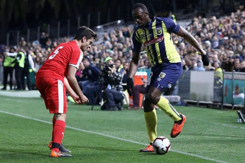 Usain Bolt scores first goals for Central Coast Mariners
